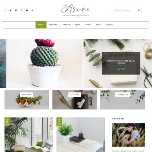 Plantilla para blog en WordPress | Tienda de recursos de marketing, Diseño web, blog, tiendas online, redes sociales