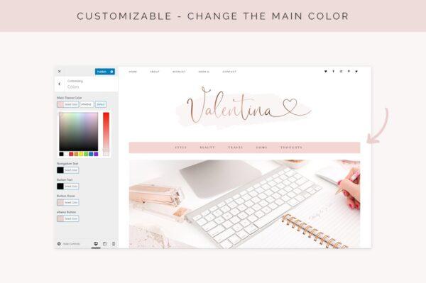 Plantilla wordpress femenina y preciosa para tu negocio