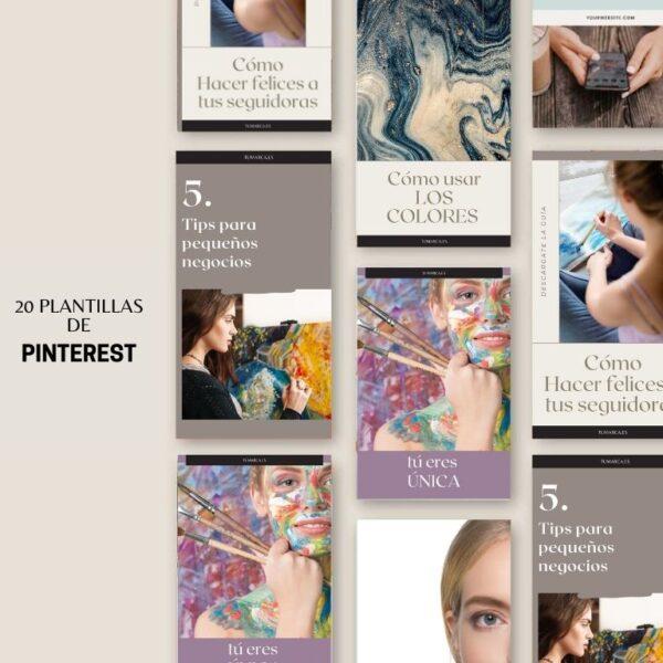 Plantillas para usar en pinterest | Tienda de recursos de marketing, Diseño web, blog, tiendas online, redes sociales